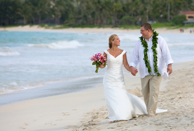 Hawaii beach wedding in Kailua